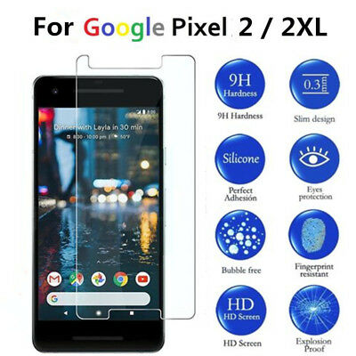 Lot 9H Premium Tempered Glass Screen Protector For Google Pixel 2 / 2XL