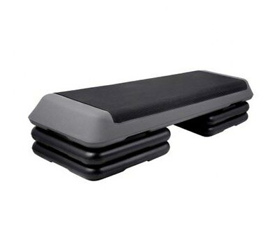 Fitness Exercise Aerobic Step Bench Adjustable 3-Level Stack Design Floor Pads