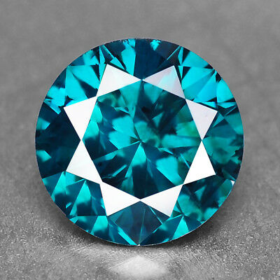 Blue Green Diamond Round 1.03 cts Diamond Natural F729