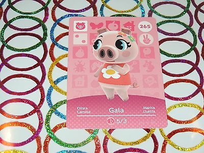 Amiibo Animal Crossing Card Gala no. 265 Top