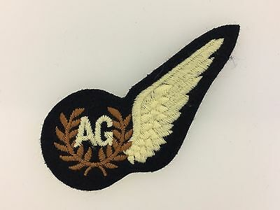 British WWII Royal Air Force (R.A.F.) Air Gunner 'AG' cloth half wing or brevet
