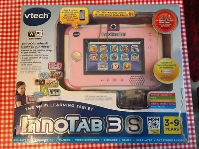 Innotab 3S - PINK with over £600 Extra Games / books & videos WITH ADAPTER..