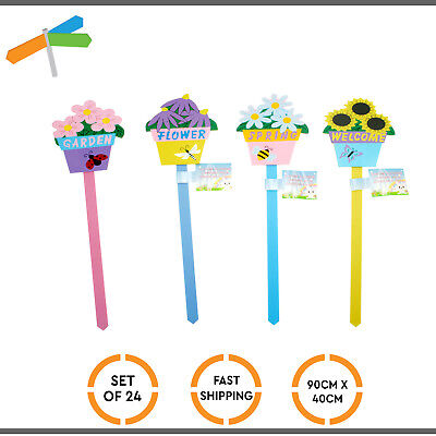 24x New Easter Garden Flower Picks Design Floral Party Home Decoration