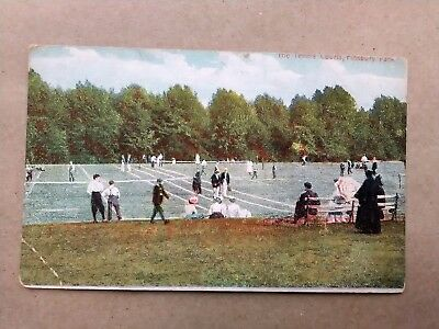 London THE TENNIS COURTS, FINSBURY PARK Early 1900s Postcard