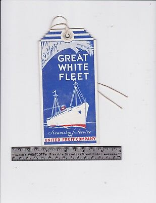 1930's-40's Great White Fleet United Fruit Co., Cristobal Luggage tag