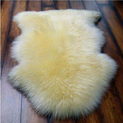 Large Genuine Sheepskin Rugs Natural Single Pelt Lambskin Real Warm Fur Carpets