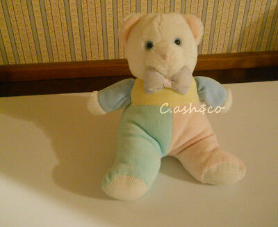 "Vintage Eden plush pastel colored bear musical ""You Are My Sunshine"" 12"" tall"