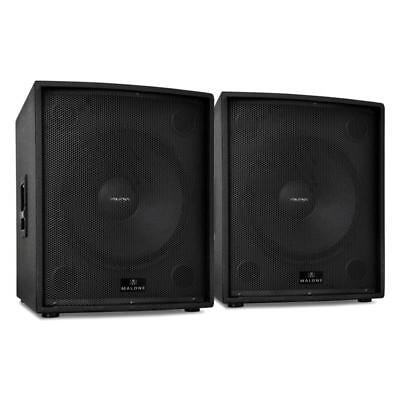 """Malone Hifi Professional Passive Dj Pa Speaker Stackable 18"""" Subwoofer 2500W Rms"""