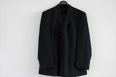 Mens Don Bagnato Dark Blue 2 Piece Suit - Size 54 S  Waist 94cm