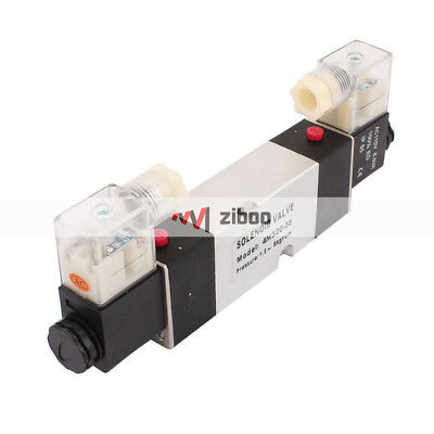 4M320-08 AC110V 2 Position 5 Way RC1/4 Neutral Air Selector Solenoid Valve RC1/4