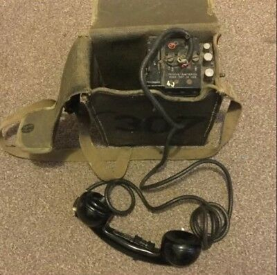 World War 2 US field Telephone ( Possibly Working )