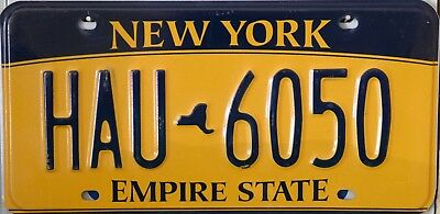 """USA Number Licence Plate NEW YORK """"EMPIRE STATE""""  ***NEW GOLD STYLE***"""