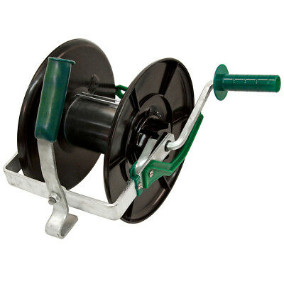 Kerbl Compact Fence Reel Wire Rope Winding Storage Tool Black and Green 44296