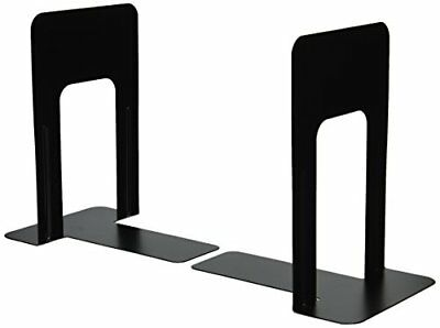 Officemate Bookends 9 Inches Non-Skid Base Black Pair 93051