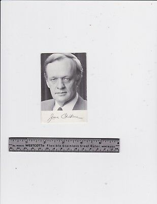 Prime Minister Jean Chretien printed Autographed Photo