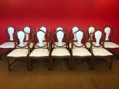 12 Exclusive CC Designs Lilly white real leather Prince of Wales style chairs