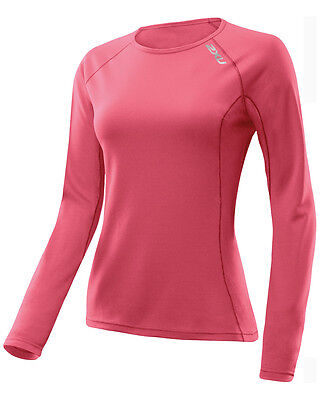 New 2Xu Comp Top G 2 Women  Large L Training Fitness Exercise L/s  Red Coral