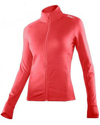 New 2Xu Power X Jacket Women Top Large L Training Fitness Exercise L/s  Red