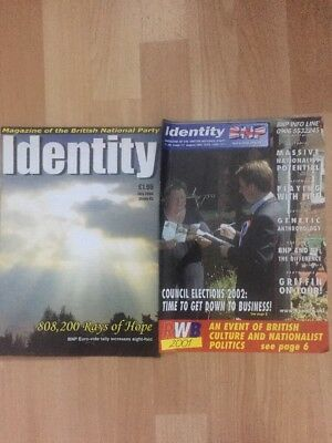2 X Identity BNP British National Party Magazines National Front NF
