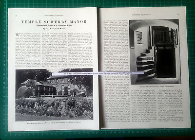 (378) Temple Sowerby Manor Dorothy Una Ratcliffe  - 1952 Article