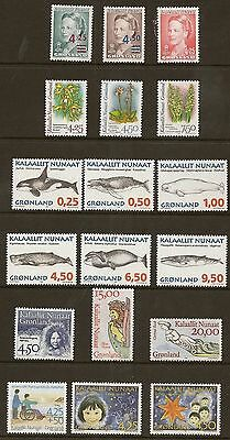 Greenland 1996 Year Set Never Hinged  Mint