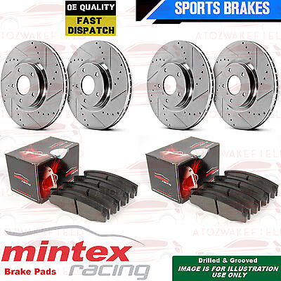 For Lotus Elise Front Rear Drilled Grooved Performance Brake Discs Racing Pads
