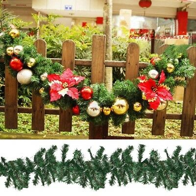 2.7m(9ft) New Style Christmas Fireplace Garland Wreath Fake Pine Tree Decoration