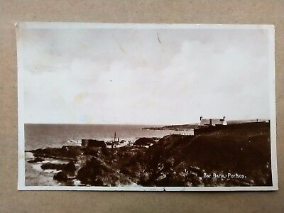 Aberdeenshire BAR BANK, PORTSOY Old Real Photo Postcard