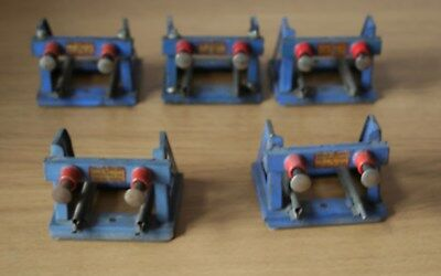 O GAUGE -  HORNBY 5 x  No 1 SPRUNG BUFFERS - USED/SERVICEABLE (1)