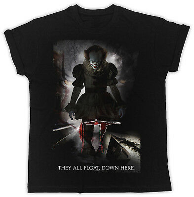 They Are All Float Pennywise The Dancing Clown Stephen Kings It Black T Shirt