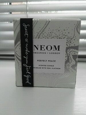 Neom perfect peace scented candle sprinkled with real platinum