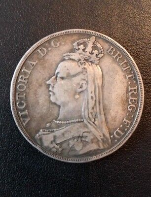 1889 Queen Victoria crown coin