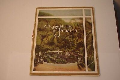 Vintage 1930's A Happy Month in Jamaica Tourism Ad Booklet United Fruit Company