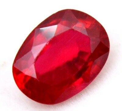 7.15 Ct Natural Pigeon Blood Red Mozambique Ruby AGSL Certified Oval Cut Gem
