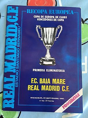 Programme Official Real Madrid Spain Baia Mare Romania Winners Cup 1982 1983