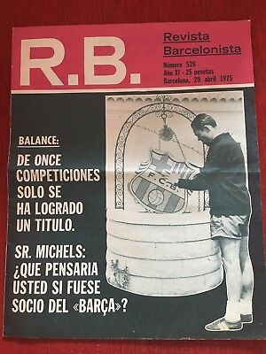 Magazine Rb R.b. 526 Official Barcelona Leeds United European Cup 1974 1975