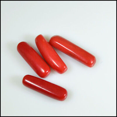RED CORAL CAPSUL 16.55 Cts NATURAL QUALIRTY 4Pcs LOT CABOCHON GEMSTONES AB06-81