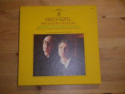 "GILELS / SZELL: Beethoven - 5 Piano Concertos, STEREO, ANGEL, US,  12""/ 5 LP BOX"
