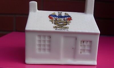 A Gemma  Crested China Cottage Blackpool
