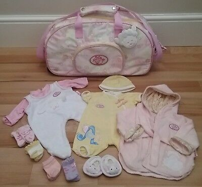 Baby Annabell Changing Bag On Wheels With Bundle Of Clothes Zapf Creation