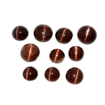 SCAPOLITE CATS EYE 37.86 Cts NATURAL LOT ROUND 10Pcs LOOSE GEMSTONE 61-22