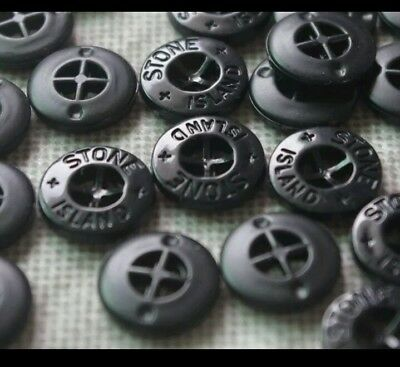 10 buttons for Stone island badge patch  free uk postage genuine item