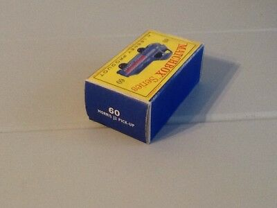 Matchbox Lesney Series Morris J2 Pick Up  #60 Original Empty Box