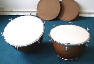 """Premier Vintage fiberglass kettle drums from London Salvation Army band 30"""""""