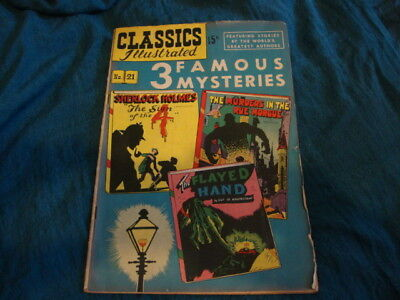 Classics Illustrated  FAMOUS MYSTERIES SHERLOCK HOLMES ETC #21
