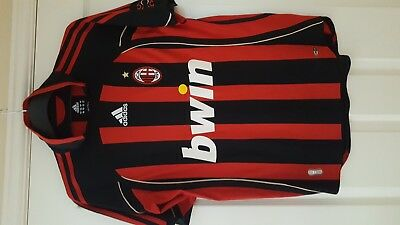 Size small mens ac milan football shirt -authentic. Must view Adidas