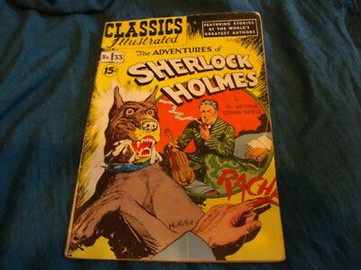 Classics Illustrated THE ADVENTURES OF SHERLOCK HOLMES Arthur Conan Doyle #33