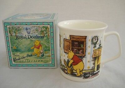 Royal Doulton WINNIE THE POOH Mug Cup Pooh's Basket Disney Boxed Immaculate RARE