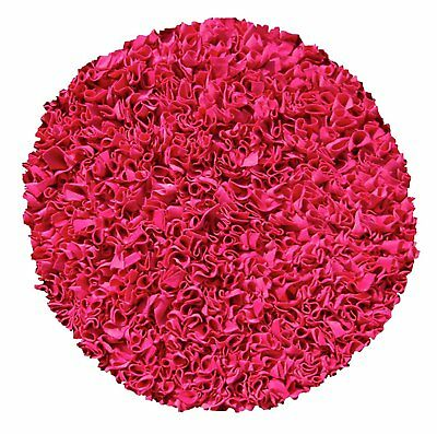 The Rug Market Shaggy Raggy Raspberry Area Rug Size 4'x4'