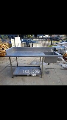 Commercial Stainless Steel Inlet Bench
